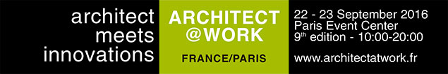 Daisalux will be at ARCHITECT@WORK 2016 : Daisalux will be present at the exclusive fair trade ARCHITECT@WORK, to be held on 22 and 23 september 2016 in Paris.
